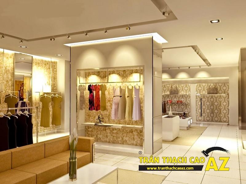 Tư vấn trần thạch cao cho cửa hàng thời trang