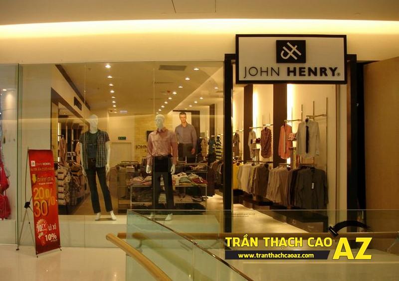 Trần thạch cao showroom – shop hợp phong thủy