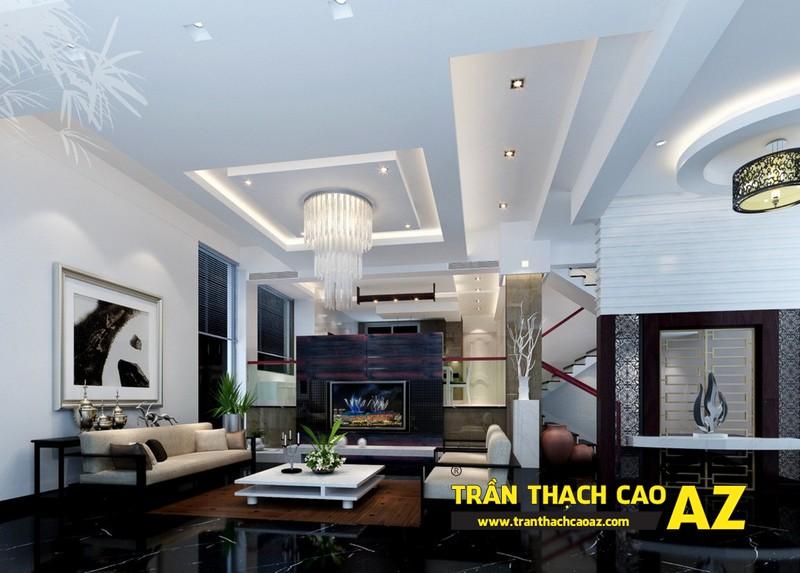 Thiết kế đèn trần thạch cao phòng khách mang phong cách hiện đại 02