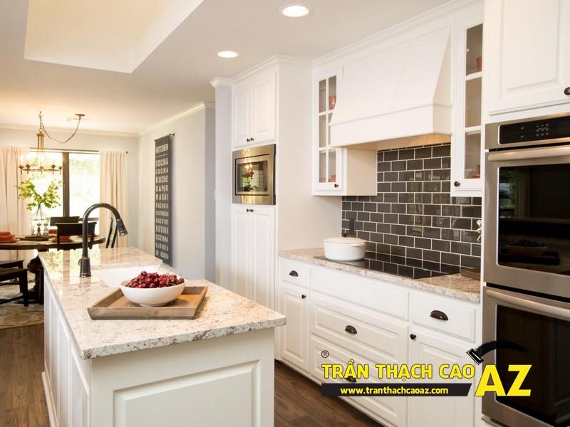 Thiết kế trần thạch cao phòng bếp theo phong cách hiện đại