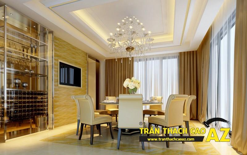 Thiết kế trần thạch cao phòng bếp theo phong cách cổ điển