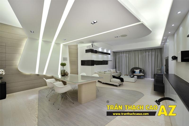 Trần thạch cao có khả năng đáp ứng mọi yêu cầu của người sử dụng về thiết kế nội thất nhà ở