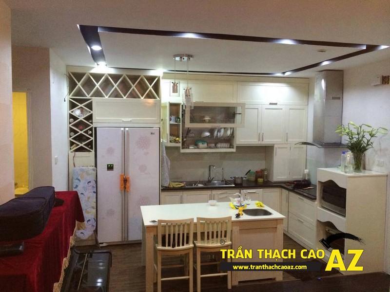 Mẫu trần thạch cao phòng bếp đẹp đơn giản, hiện đại, ấn tượng 01