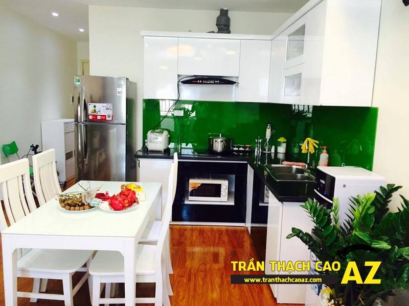 Mẫu trần thạch cao phòng bếp đẹp đơn giản, hiện đại, ấn tượng 02