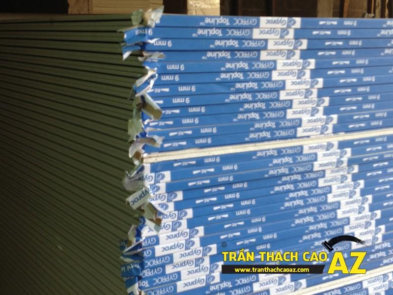 Các loại tấm thạch cao thường sử dụng khi làm trần thạch cao hiện nay 01