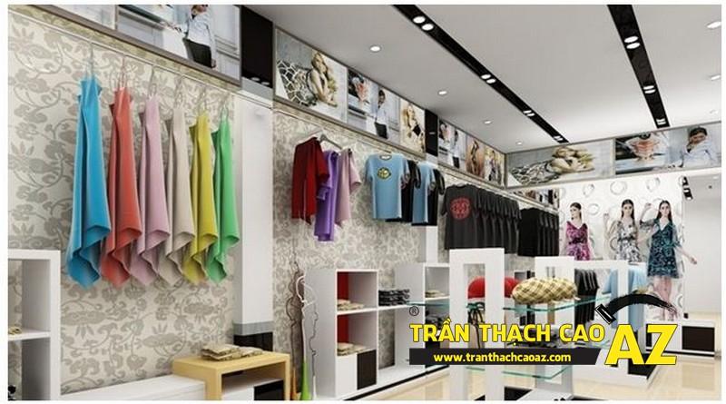 Các mẫu trần thạch cao cho showroom - shop đẹp nhất hiện nay