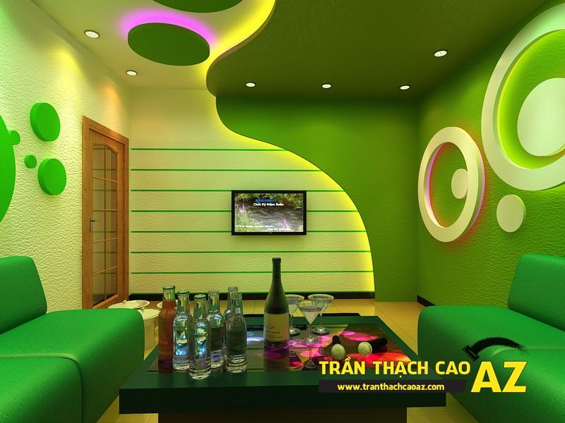 Các mẫu trần thạch cao phòng karaoke đẹp nhất