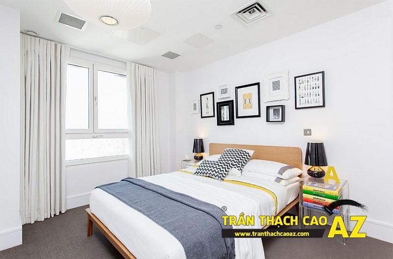 Cách bố trí đèn trần thạch cao phòng ngủ nhỏ đơn giản mà đẹp 01