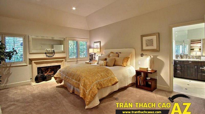 Cách bố trí đèn trần thạch cao phòng ngủ nhỏ đơn giản mà đẹp