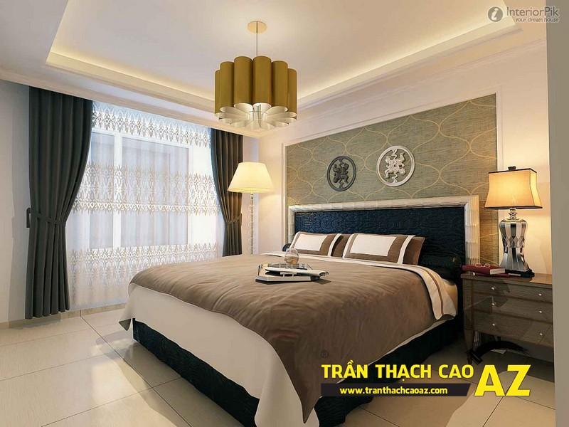Cách bố trí đèn trần thạch cao phòng ngủ nhỏ đơn giản mà đẹp 02