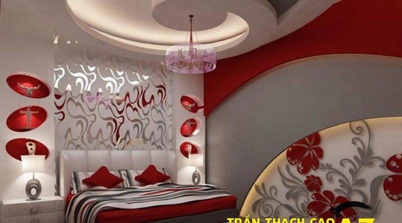 Cách bố trí đèn trần thạch cao phòng ngủ vợ chồng ngọt ngào, lãng mạn