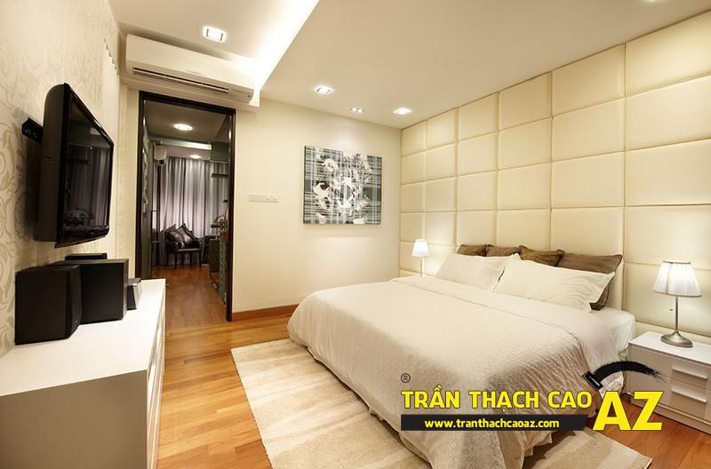 Cách sử dụng hình khối cực chuẩn ở trần thạch cao phòng ngủ nhỏ 01