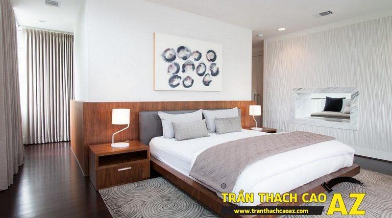 Cách sử dụng hình khối cực chuẩn ở trần thạch cao phòng ngủ nhỏ
