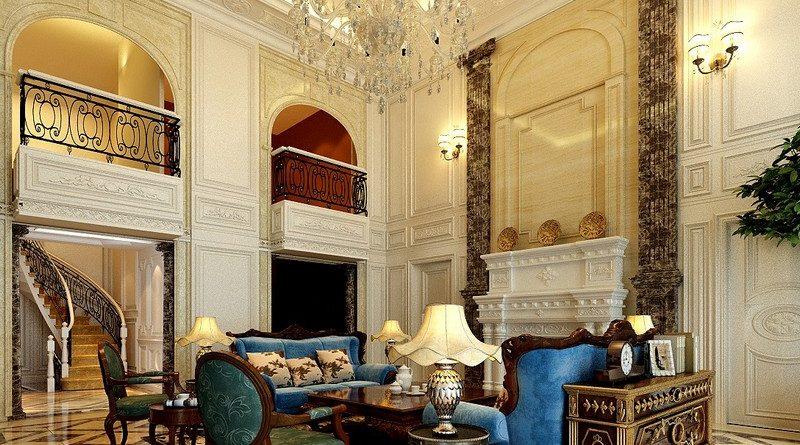Cách thiết kế nội thất phòng khách đẹp sang trọng đậm chất cổ điển