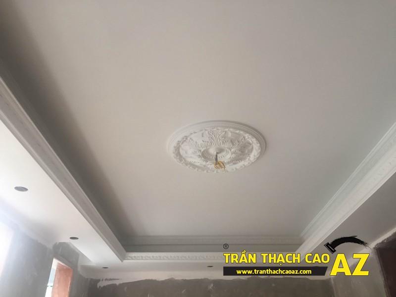 Hiện đại và khác biệt như trần thạch cao phòng khách nhà anh Hiệp 05