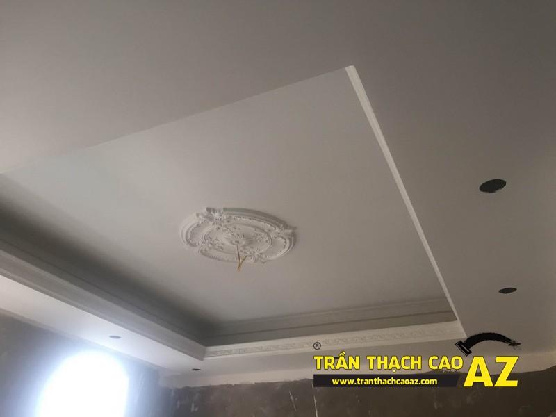 Hiện đại và khác biệt như trần thạch cao phòng khách nhà anh Hiệp 04