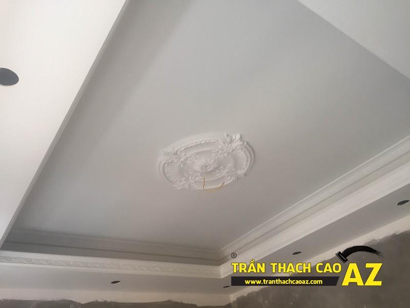 Hiện đại và khác biệt như trần thạch cao phòng khách nhà anh Hiệp 03