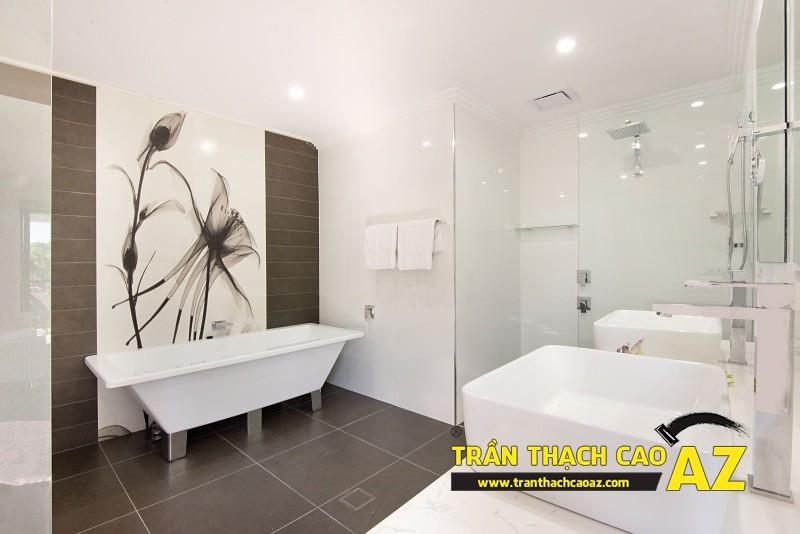 Làm trần thạch cao chịu nước, chịu ẩm cho phòng tắm hiện đại, tiện nghi 01