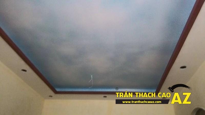 Thi công trần thạch cao phòng khách nhà ống nhà anh Trung ngõ 27, đường Trần Bình 01