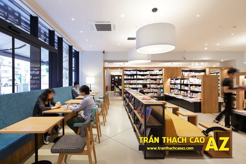 Trần thạch cao chìm - sự lựa chọn trên cả tuyệt vời dành cho quán cafe 01