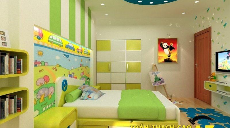 3 lý do thúc giục bạn làm trần thạch cao phòng ngủ trẻ em ngay lập tức