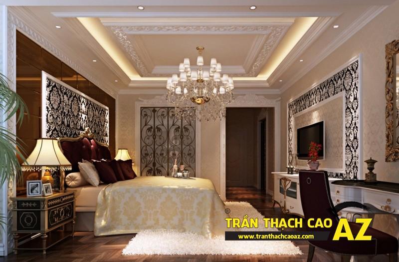 Mẫu trần thạch cao biệt thự cổ điển dành cho phòng ngủ 08