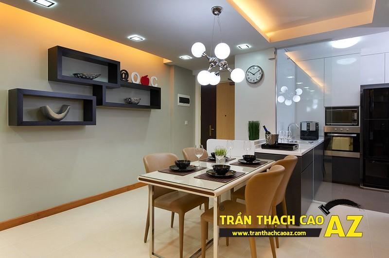 Xu hướng thiết kế trần 2017 - mẫu trần thạch cao phòng bếp, phòng ăn 03
