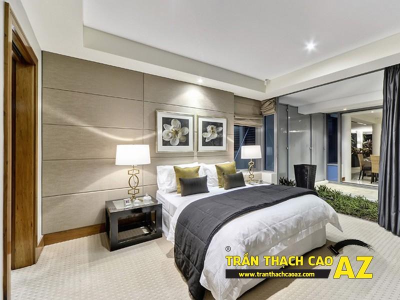 Xu hướng thiết kế trần 2017 - mẫu trần thạch cao phòng ngủ 01