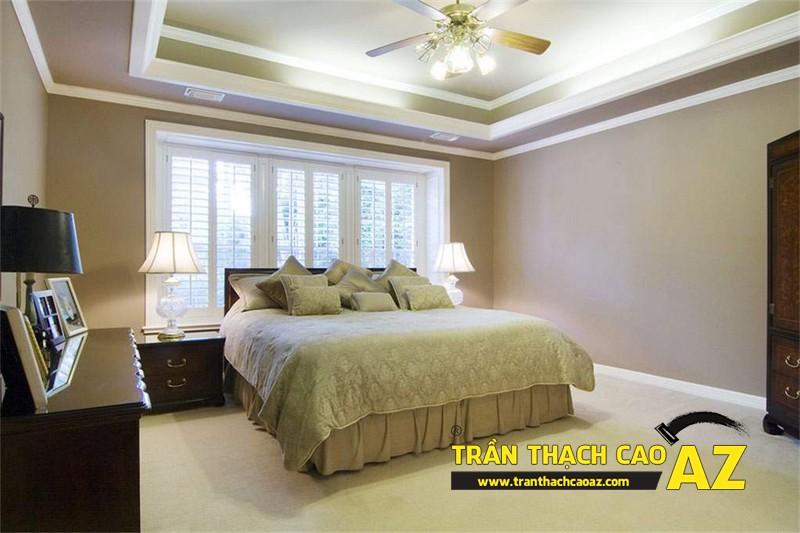 Xu hướng thiết kế trần 2017 - mẫu trần thạch cao phòng ngủ 05