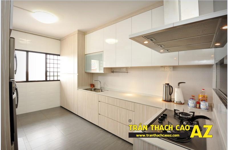 Xu hướng thiết kế trần 2017 - mẫu trần thạch cao phòng bếp, phòng ăn 04