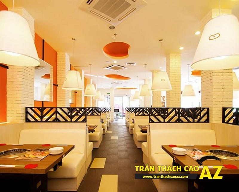 Mẫu trần thạch cao nhà hàng được ưa chuộng nhất 2016