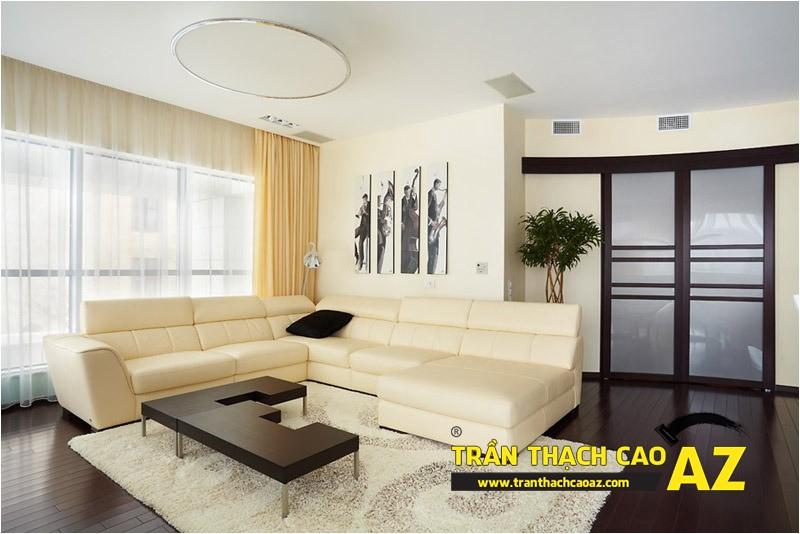 Mẫu trần thạch cao phòng khách 2016 theo phong cách đơn giản mà đẹp 02