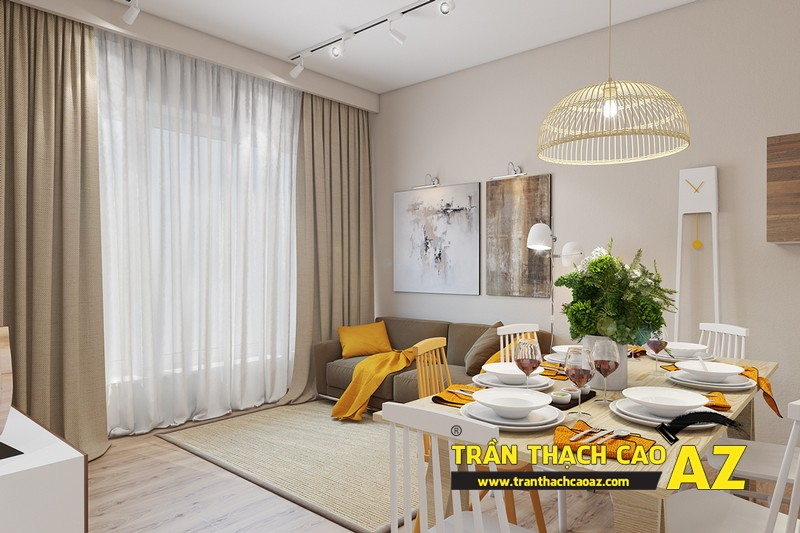 Mẫu trần thạch cao phòng khách 2016 theo phong cách đơn giản mà đẹp 05
