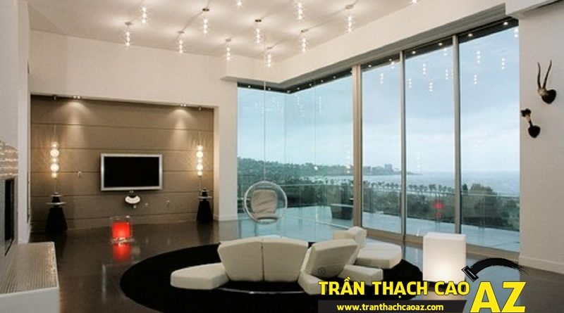 Trần thạch cao phòng khách đẹp hiện đại cho không gian sống thêm sang trọng