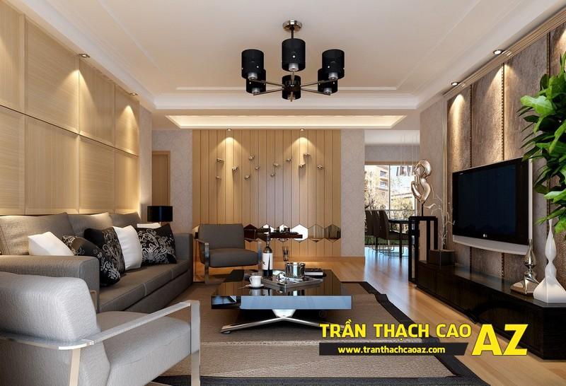 Mẫu trần thạch cao phòng khách 2016 đẹp hiện đại 14