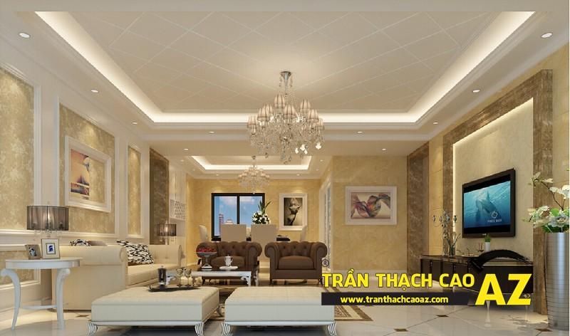 Mẫu trần thạch cao phòng khách hiện đại 10