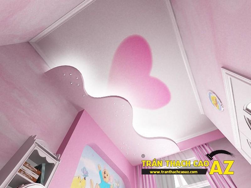 Mẫu trần thạch cao phòng ngủ bé gái đẹp 'ngập màu hồng' 10