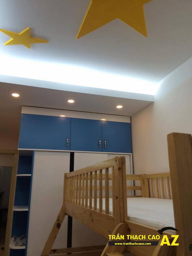 Mê mẩn với tạo hình trần thạch cao phòng bếpđẹp siêu cấp nhà anh Lâm 03