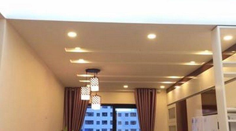 Mê mẩn với tạo hình trần thạch cao phòng khách đẹp siêu cấp nhà anh Lâm