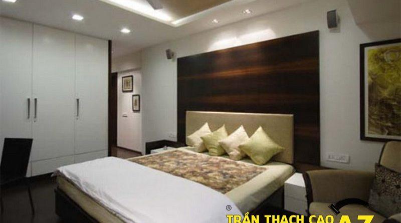 Mở rộng không gian nhờ sử dụng đèn trần thạch cao phòng ngủ nhỏ