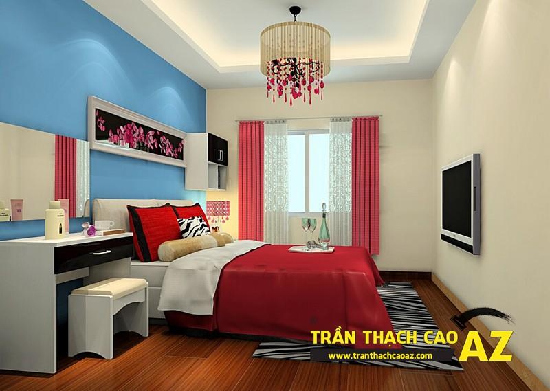 Mở rộng không gian nhờ sử dụng đèn trần thạch cao phòng ngủ nhỏ 02