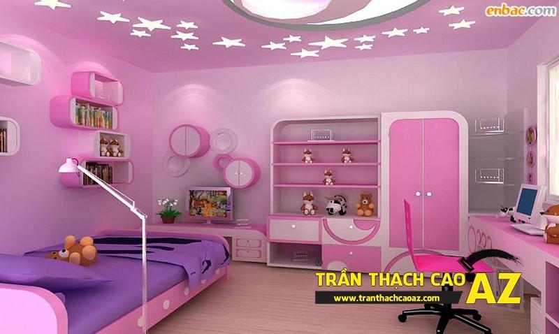 Nguyên tắc sử dụng hình khối ở trần thạch cao phòng ngủ trẻ em 01