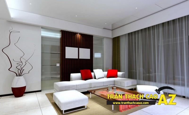 Thiết kế nội thất nhà chung cư đơn giản mà đẹp với trần thạch cao 02