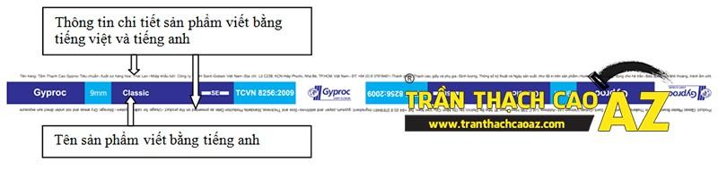 Đặc điểm phần biên tấm của tấm thạch cao Gyproc nhập khẩu