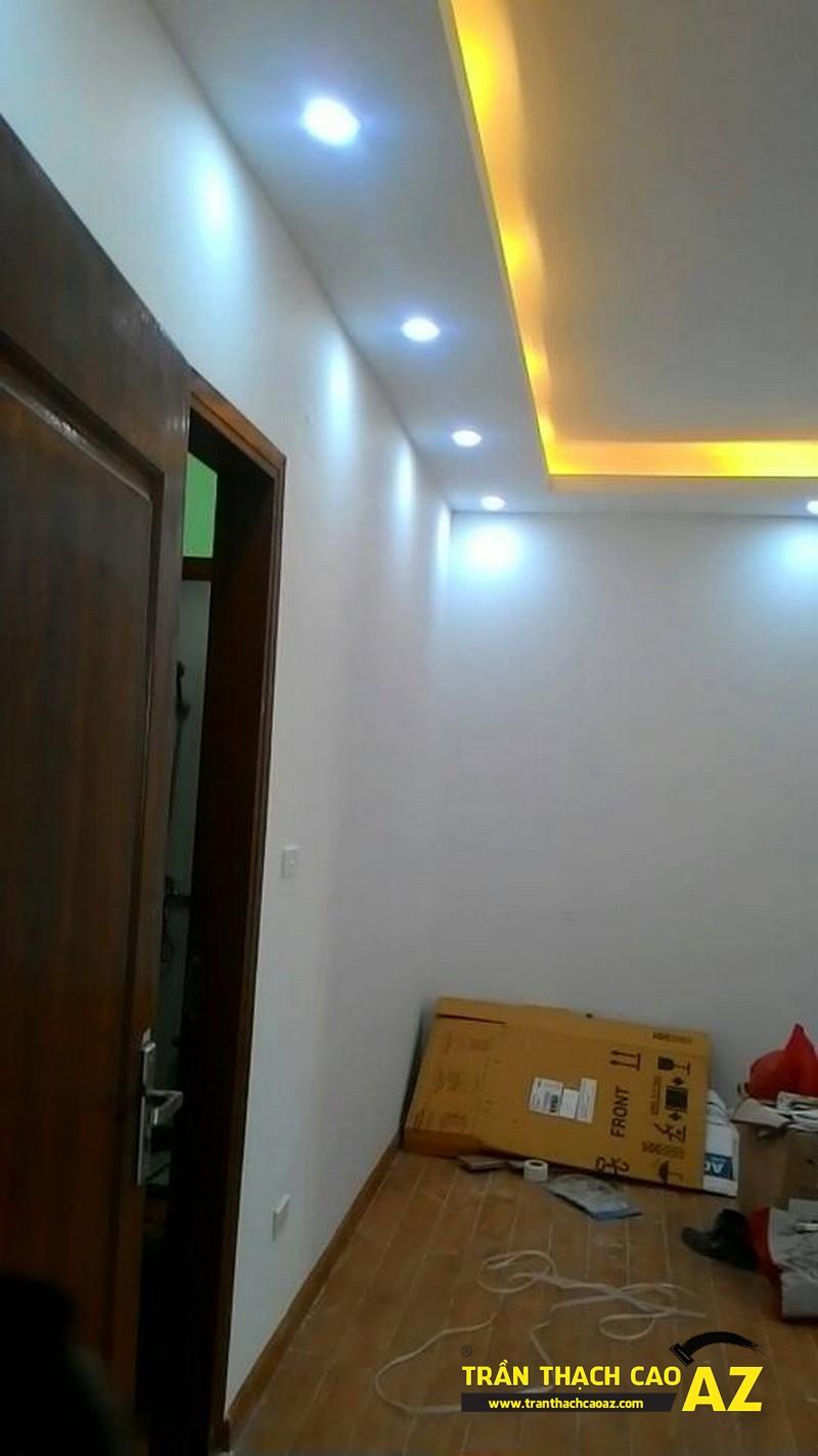 Thiết kế trần thạch cao phòng khách rộng đẹp hiện đại nhà anh Hà 01
