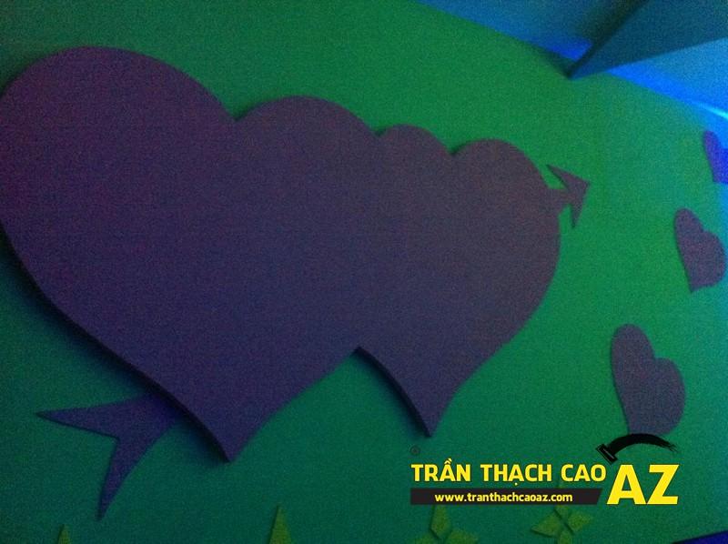 Phòng karaoke đẹp đẳng cấp nhờ tạo hình trần thạch cao của anh Nam 03