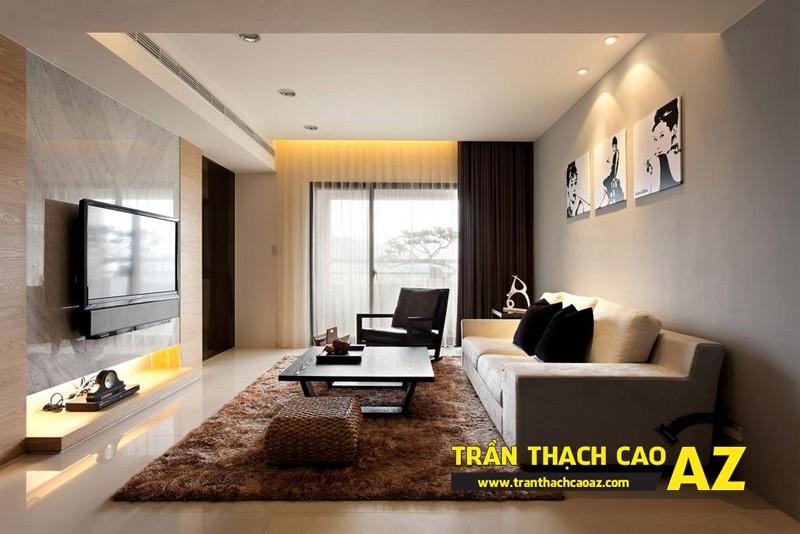 Thiết kế nội thất đẹp khác biệt, nổi bật với tạo hình trần thạch cao 01