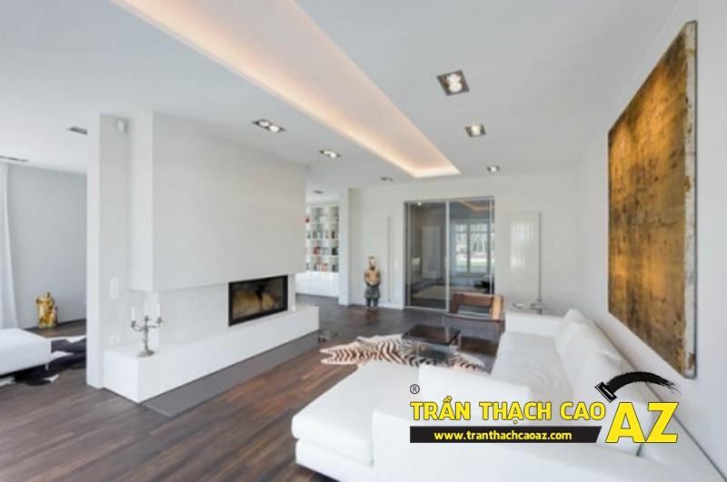 Trần thạch cao giúp các chi tiết trang trí nội thất trở nên gần gũi, hài hòa, nhất quán hơn