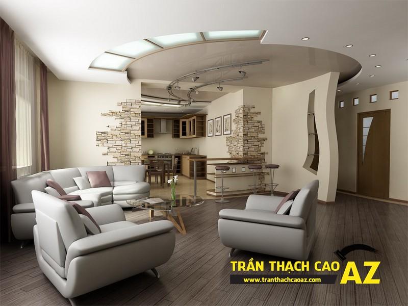 Trần thạch cao AZ thách thức mọi đam mê làm đẹp cho không gian nội thất