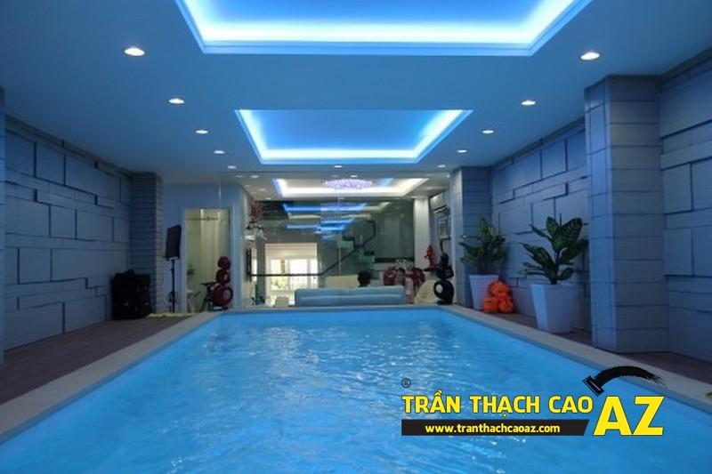 Trần thạch cao chống ẩm cho bể bơi bền đẹp, giá rẻ